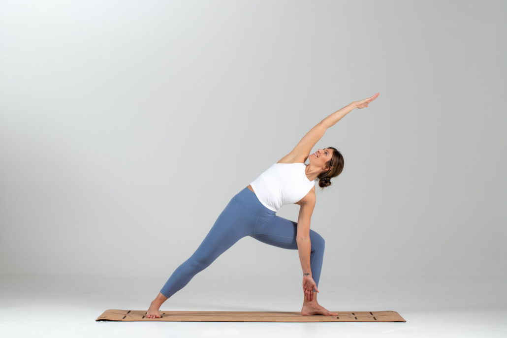 EXTENDED SIDE ANGLE POSE: