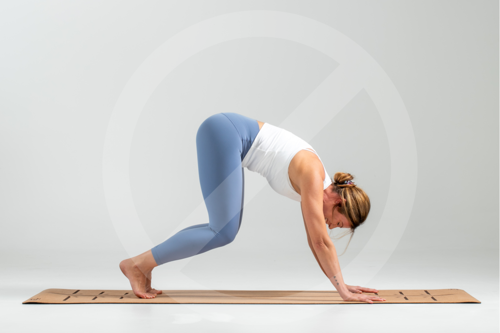 The hands and feet are the foundational points of the pose